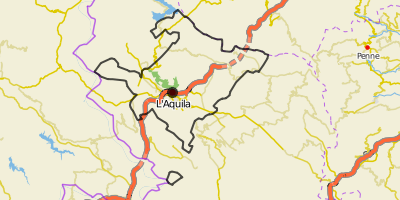 City border of L'Aquila